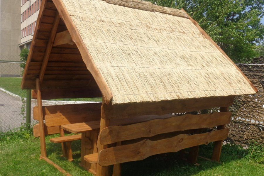 Крыша для беседки из камыша своими руками